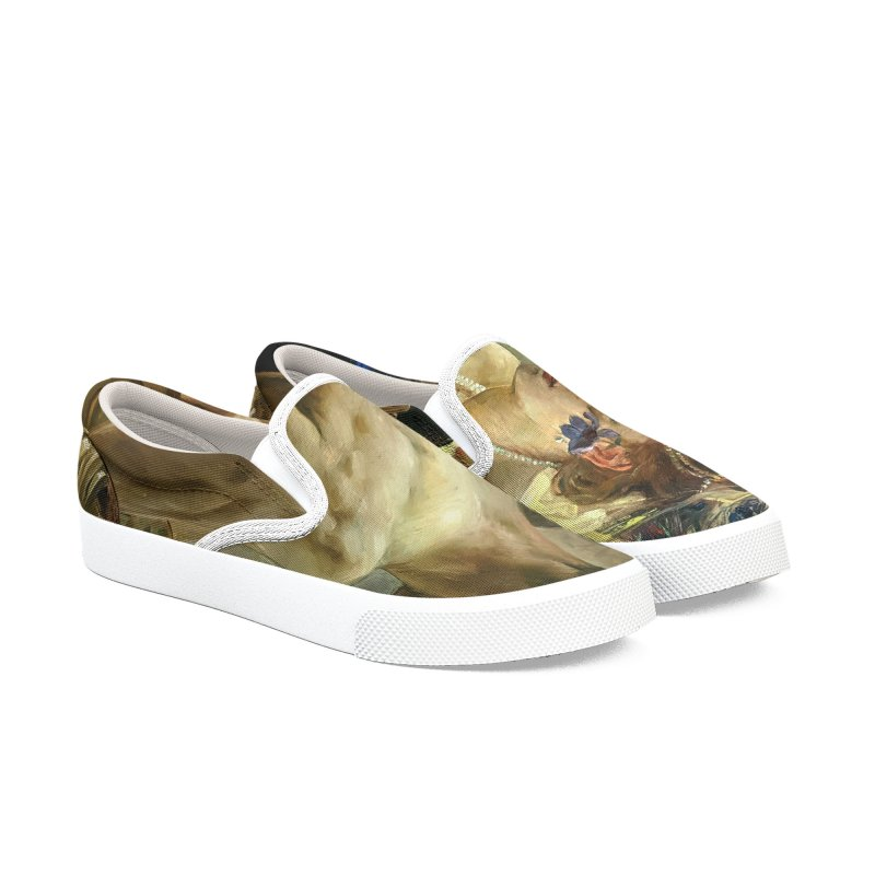 Vivid Retro - The Passion of Salome Men's Slip-On Shoes by lostsigil's Artist Shop
