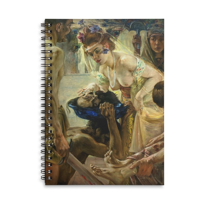 Vivid Retro - The Passion of Salome Accessories Lined Spiral Notebook by lostsigil's Artist Shop