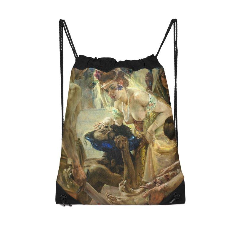 Vivid Retro - The Passion of Salome Accessories Drawstring Bag Bag by lostsigil's Artist Shop