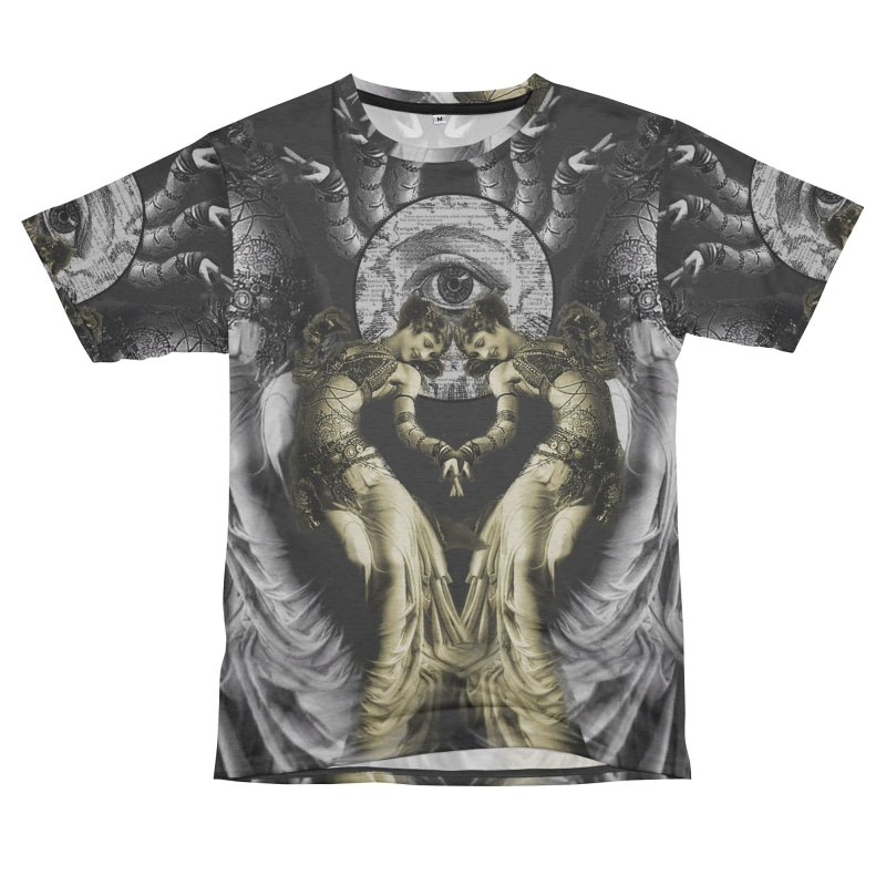 The Occult Dance Men's French Terry T-Shirt Cut & Sew by lostsigil's Artist Shop