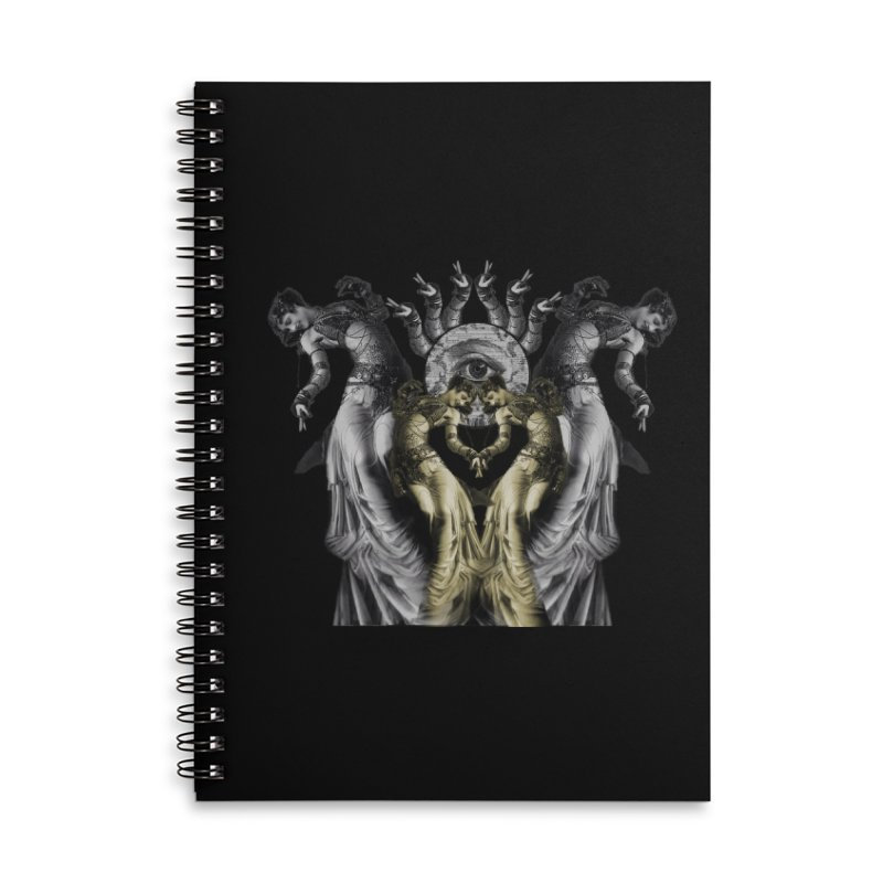 The Occult Dance Accessories Lined Spiral Notebook by lostsigil's Artist Shop