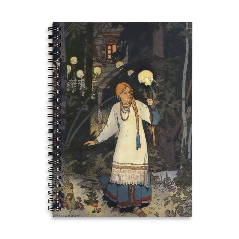 Vivid Retro - Vasilisa Accessories Lined Spiral Notebook by lostsigil's Artist Shop