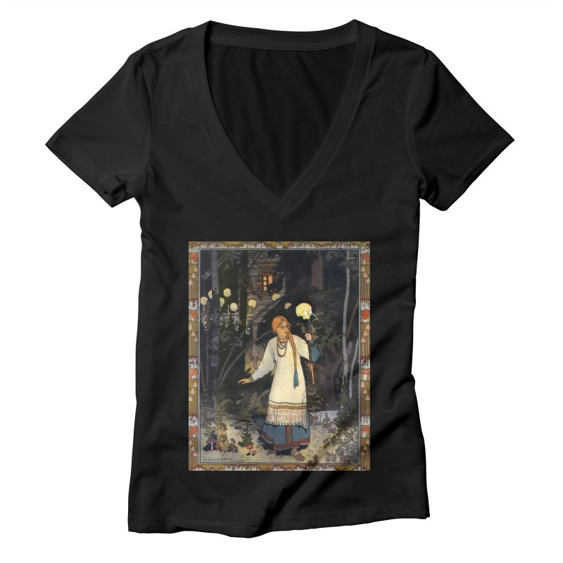 Vivid Retro - Vasilisa Women's V-Neck by lostsigil's Artist Shop
