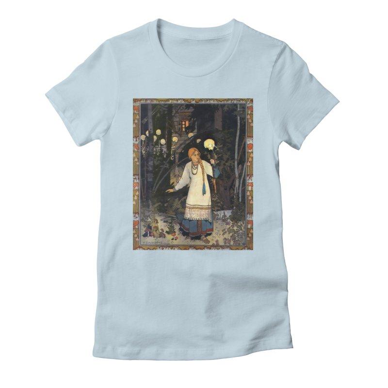 Vivid Retro - Vasilisa Women's Fitted T-Shirt by lostsigil's Artist Shop