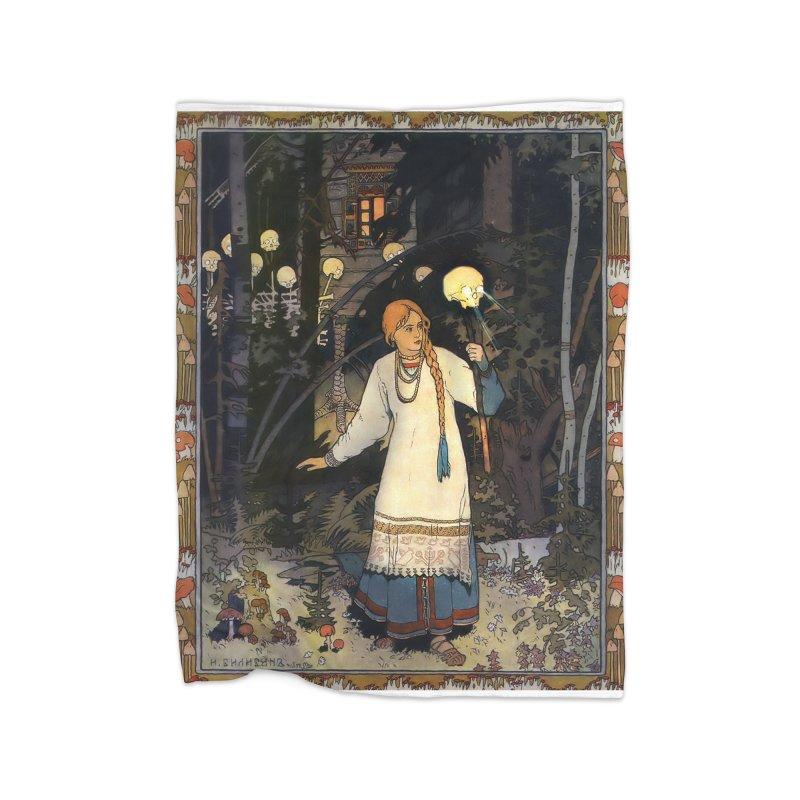 Vivid Retro - Vasilisa Home Fleece Blanket Blanket by lostsigil's Artist Shop