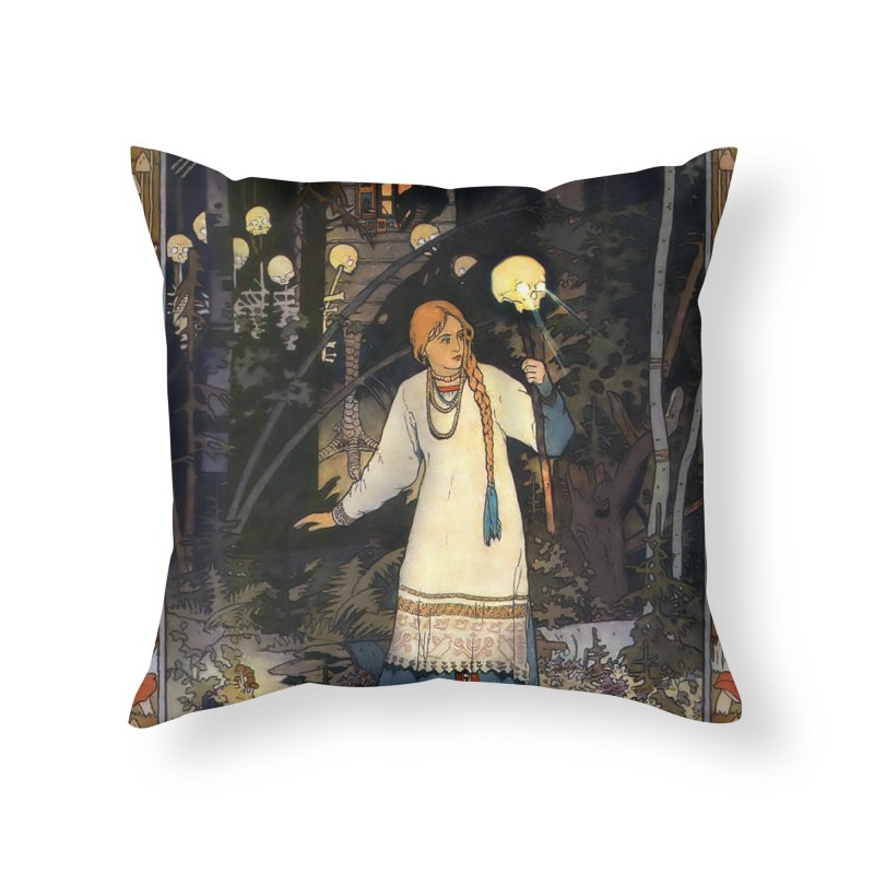 Vivid Retro - Vasilisa Home Throw Pillow by lostsigil's Artist Shop