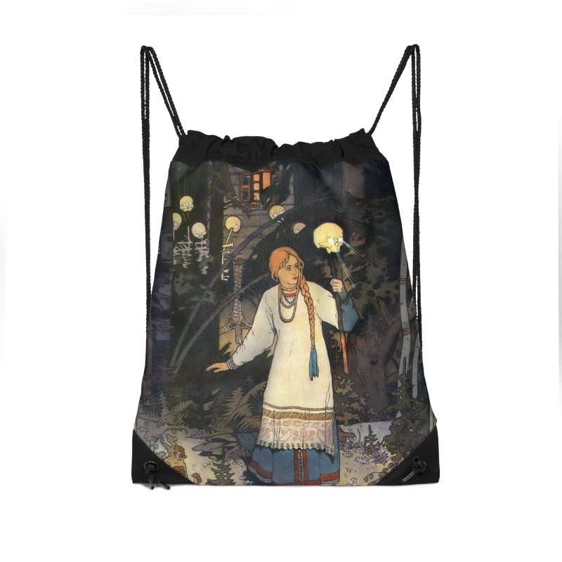 Vivid Retro - Vasilisa Accessories Drawstring Bag Bag by lostsigil's Artist Shop
