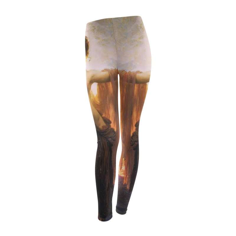 Vivid Retro - The Gates of Dawn Women's Leggings Bottoms by lostsigil's Artist Shop