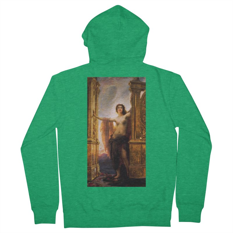 Vivid Retro - The Gates of Dawn Women's French Terry Zip-Up Hoody by lostsigil's Artist Shop
