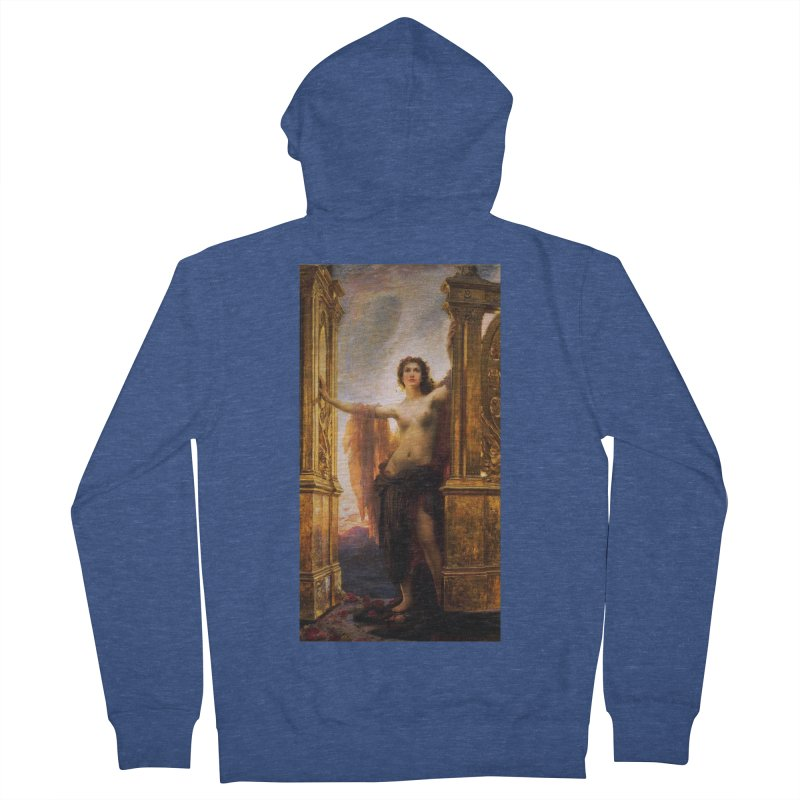 Vivid Retro - The Gates of Dawn Men's French Terry Zip-Up Hoody by lostsigil's Artist Shop