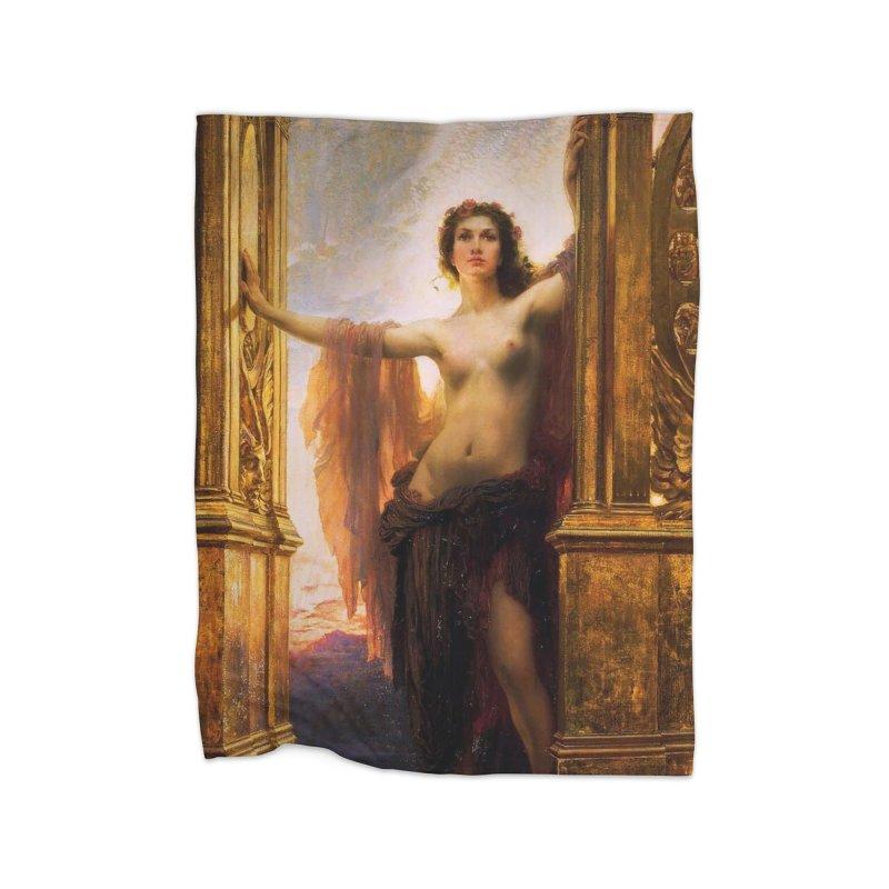 Vivid Retro - The Gates of Dawn Home Fleece Blanket Blanket by lostsigil's Artist Shop
