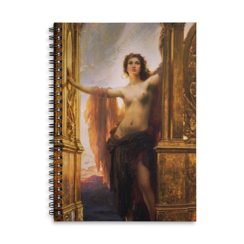 Vivid Retro - The Gates of Dawn Accessories Lined Spiral Notebook by lostsigil's Artist Shop