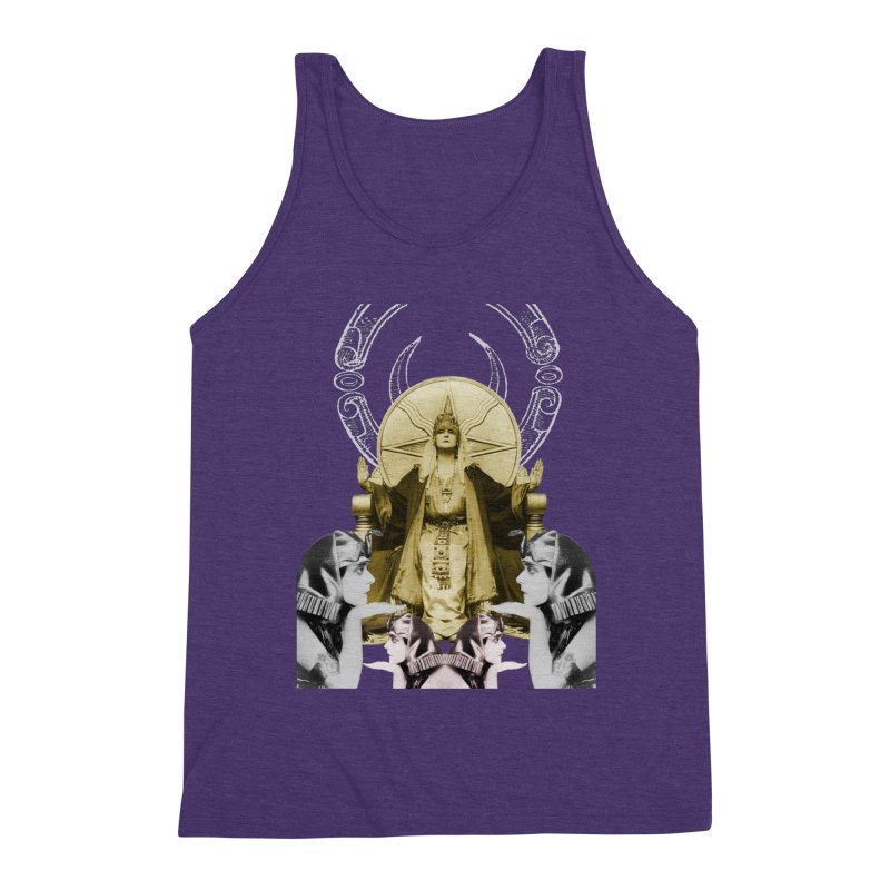 Of Things Long Past - The High Priestess Men's Triblend Tank by lostsigil's Artist Shop