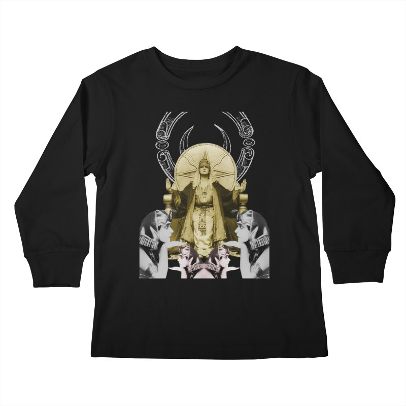 Of Things Long Past - The High Priestess Kids Longsleeve T-Shirt by lostsigil's Artist Shop