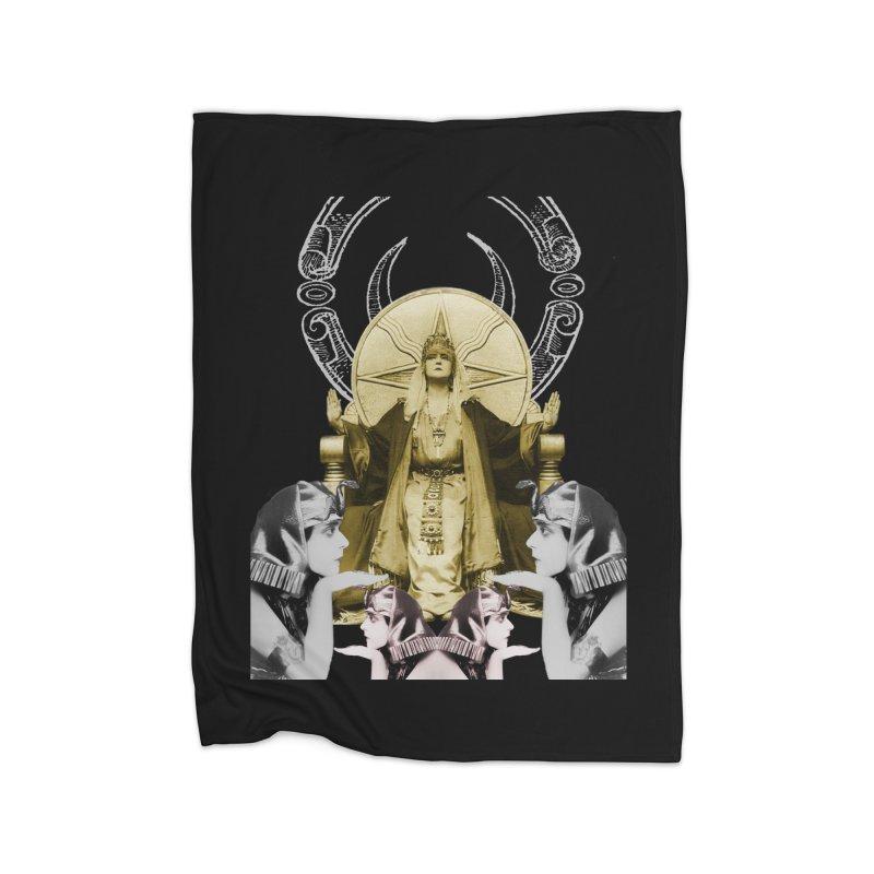 Of Things Long Past - The High Priestess Home Fleece Blanket Blanket by lostsigil's Artist Shop