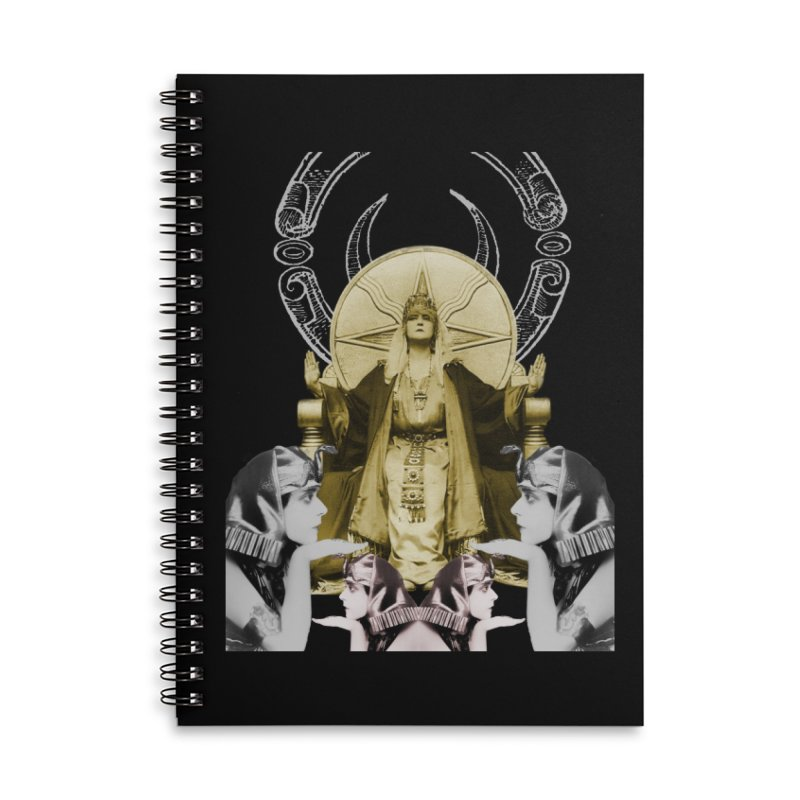 Of Things Long Past - The High Priestess Accessories Lined Spiral Notebook by lostsigil's Artist Shop