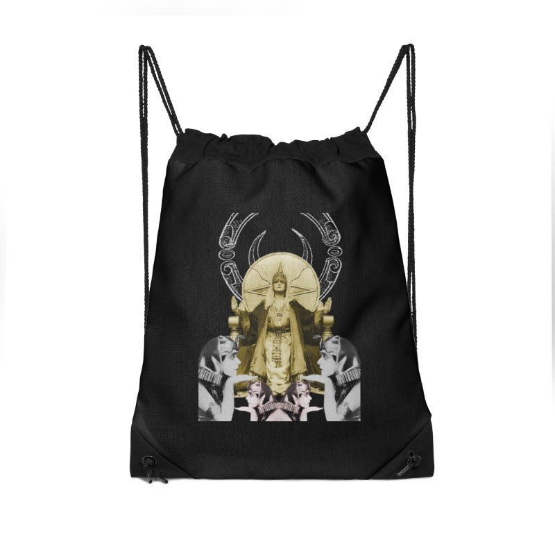 Of Things Long Past - The High Priestess Accessories Drawstring Bag Bag by lostsigil's Artist Shop