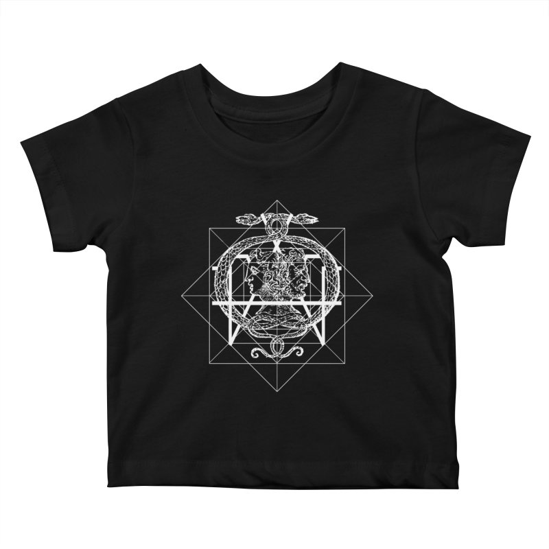 Hermetica Moderna - The Sight of Janus white Kids Baby T-Shirt by lostsigil's Artist Shop
