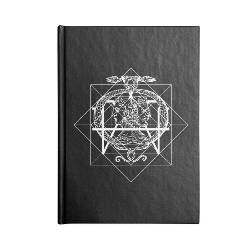 Hermetica Moderna - The Sight of Janus white Accessories Notebook by lostsigil's Artist Shop