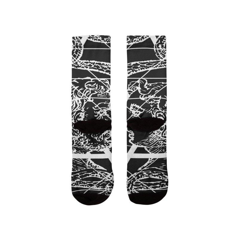 Hermetica Moderna - The Sight of Janus white Women's Socks by lostsigil's Artist Shop