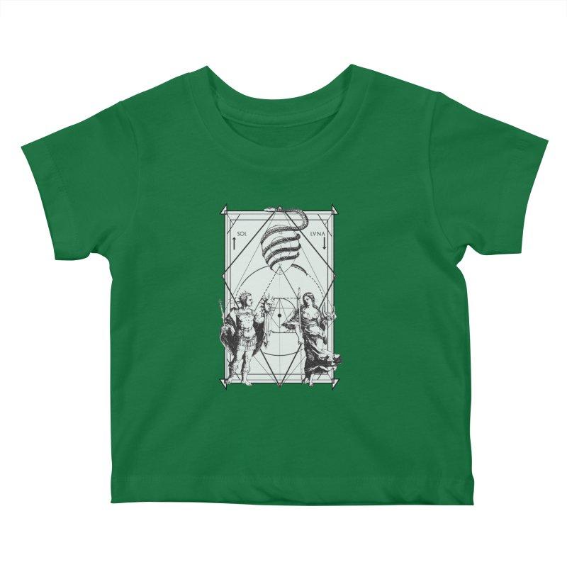 Hermetica Moderna - Alchemical Wedding Kids Baby T-Shirt by lostsigil's Artist Shop