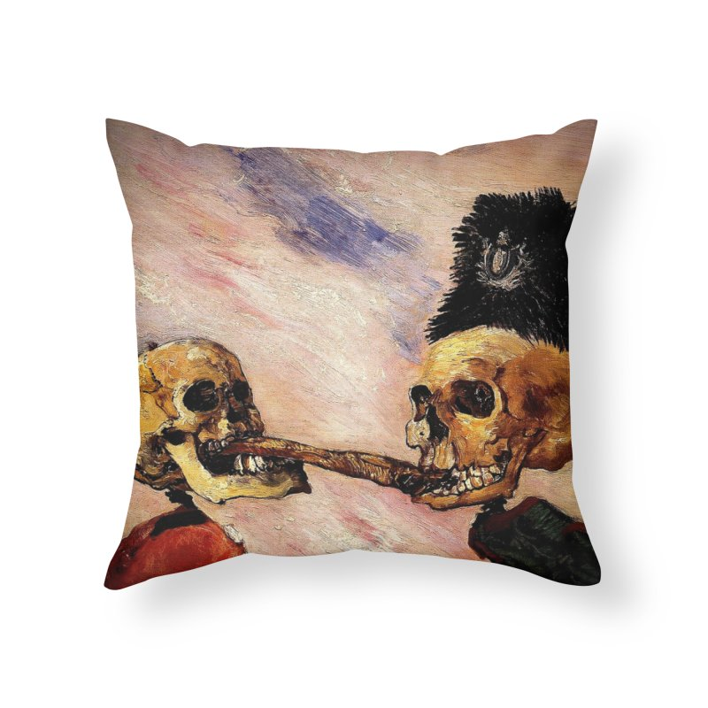 Vivid Retro - Fight over a herring Home Throw Pillow by lostsigil's Artist Shop