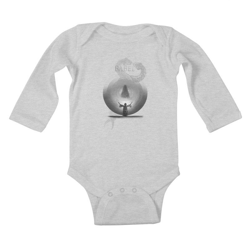 Metropolis Babel v.1 Kids Baby Longsleeve Bodysuit by lostsigil's Artist Shop