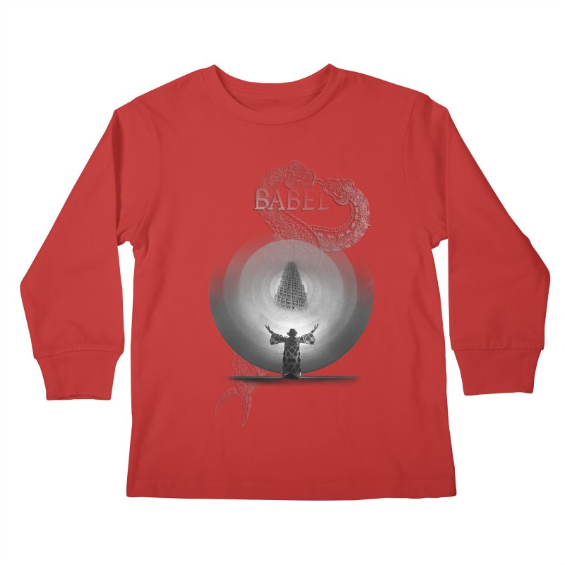 Metropolis Babel v.1 Kids Longsleeve T-Shirt by lostsigil's Artist Shop