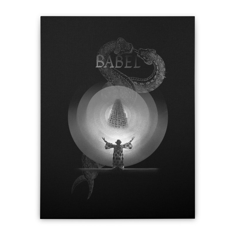 Metropolis Babel v.1 Home Stretched Canvas by lostsigil's Artist Shop