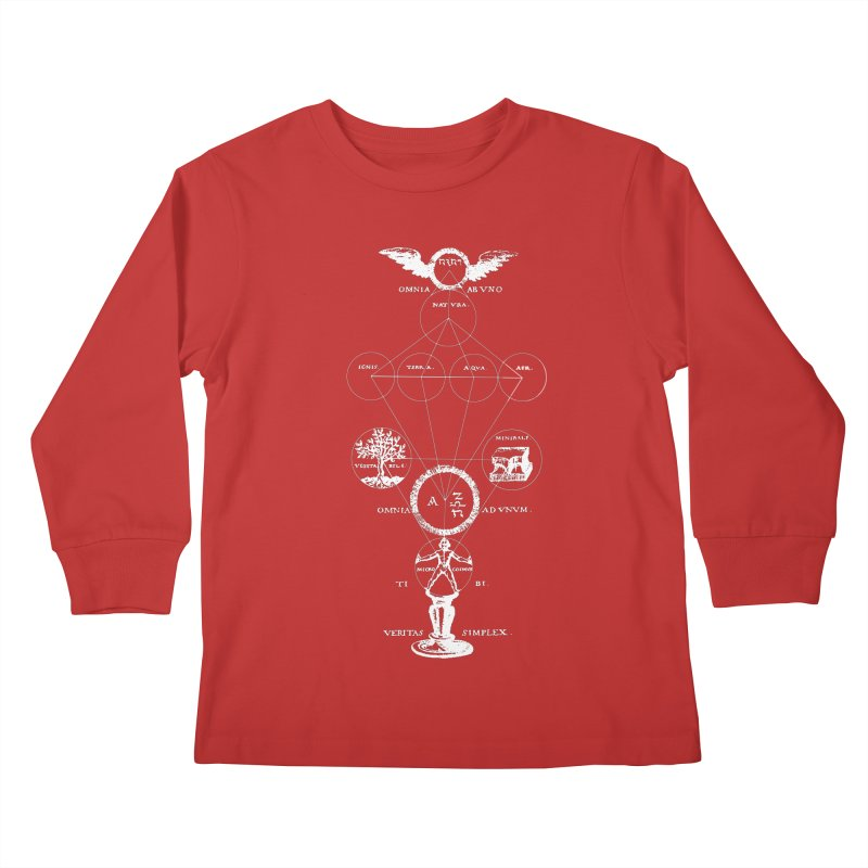 The Origins of Alchemy (white) Kids Longsleeve T-Shirt by lostsigil's Artist Shop