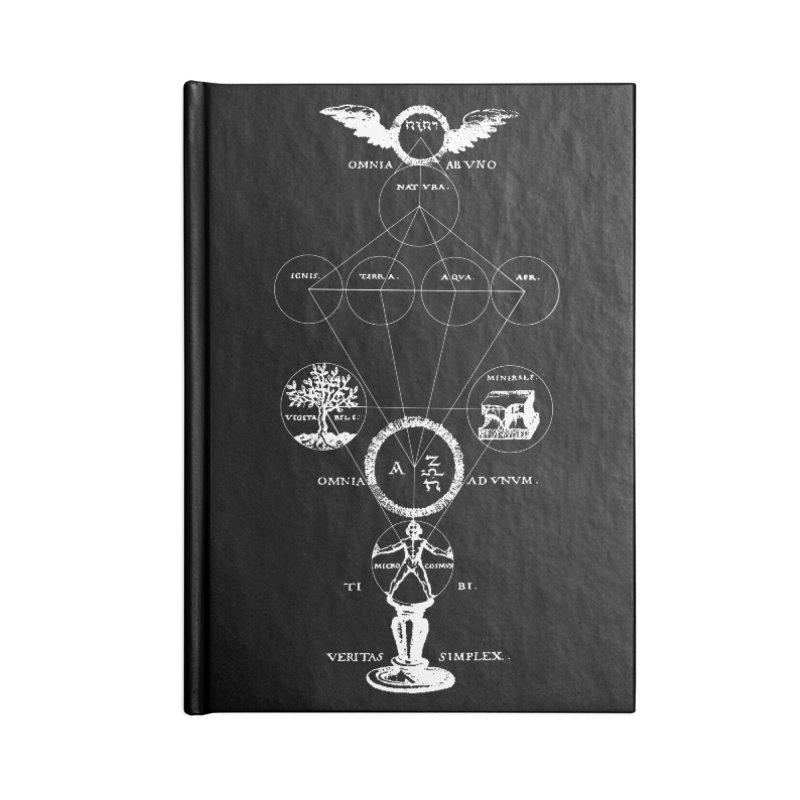 The Origins of Alchemy (white) Accessories Notebook by lostsigil's Artist Shop