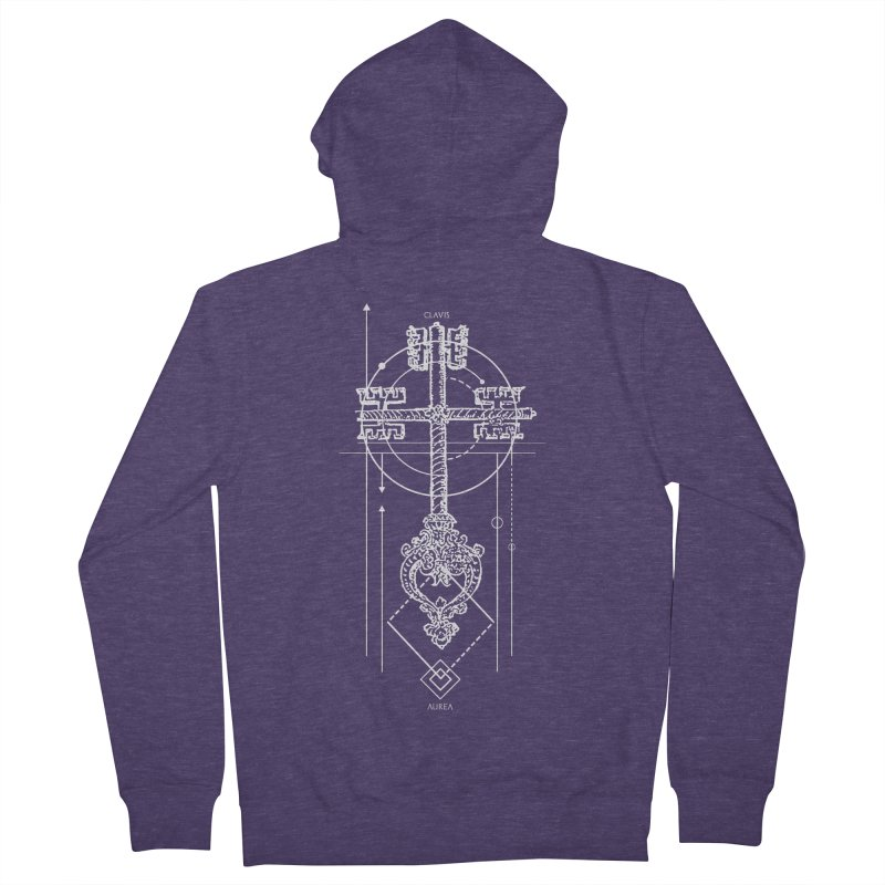 The Key to Nowhere vol. 1 dark Men's French Terry Zip-Up Hoody by lostsigil's Artist Shop