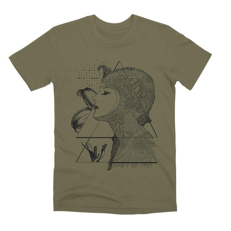 Art Nouveau - the Flower Men's Premium T-Shirt by lostsigil's Artist Shop