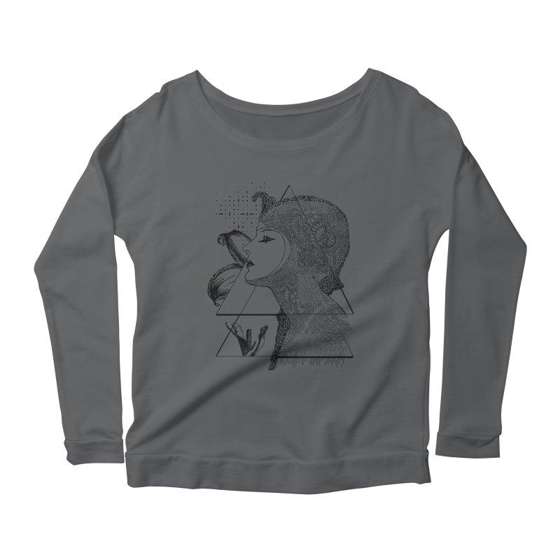 Art Nouveau - the Flower Women's Scoop Neck Longsleeve T-Shirt by lostsigil's Artist Shop