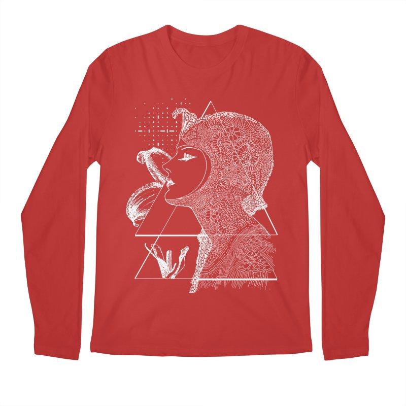 Art Nouveau -the Flower dark Men's Regular Longsleeve T-Shirt by lostsigil's Artist Shop