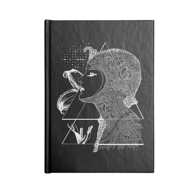 Art Nouveau -the Flower dark Accessories Notebook by lostsigil's Artist Shop