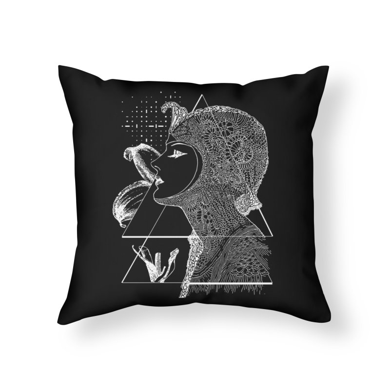 Art Nouveau -the Flower dark Home Throw Pillow by lostsigil's Artist Shop