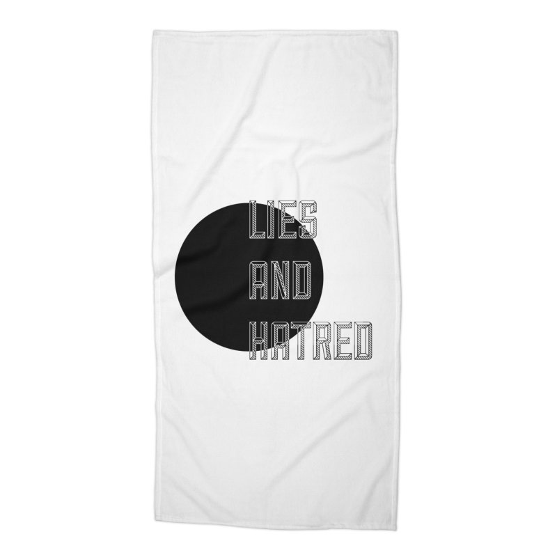Lies and Hatred v1 Accessories Beach Towel by lostsigil's Artist Shop