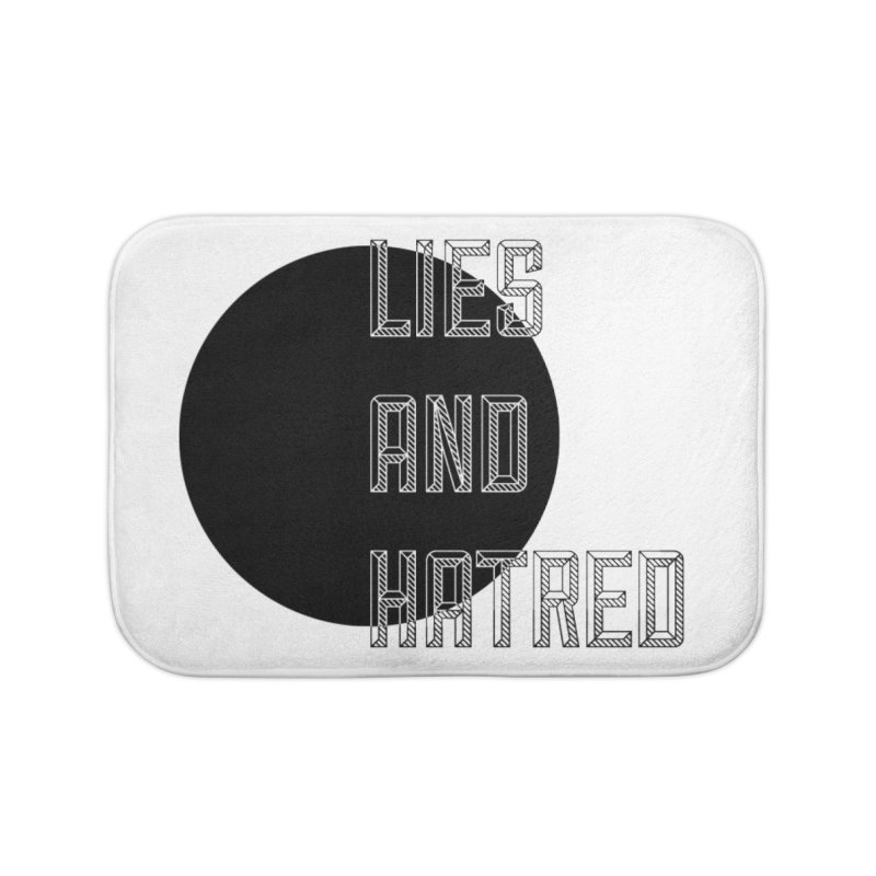 Lies and Hatred v1 Home Bath Mat by lostsigil's Artist Shop