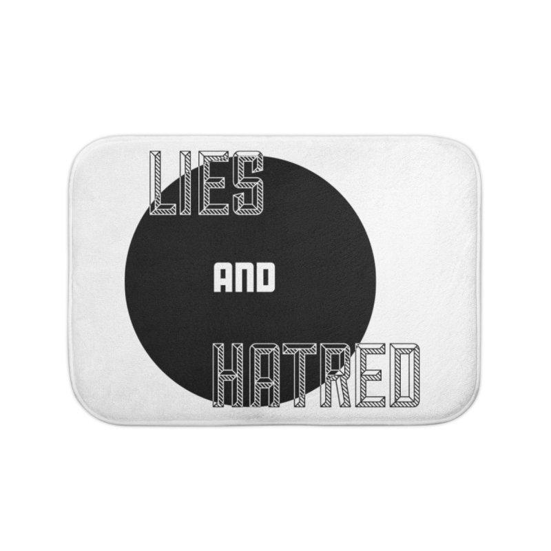 Lies and Hatred v2 Home Bath Mat by lostsigil's Artist Shop