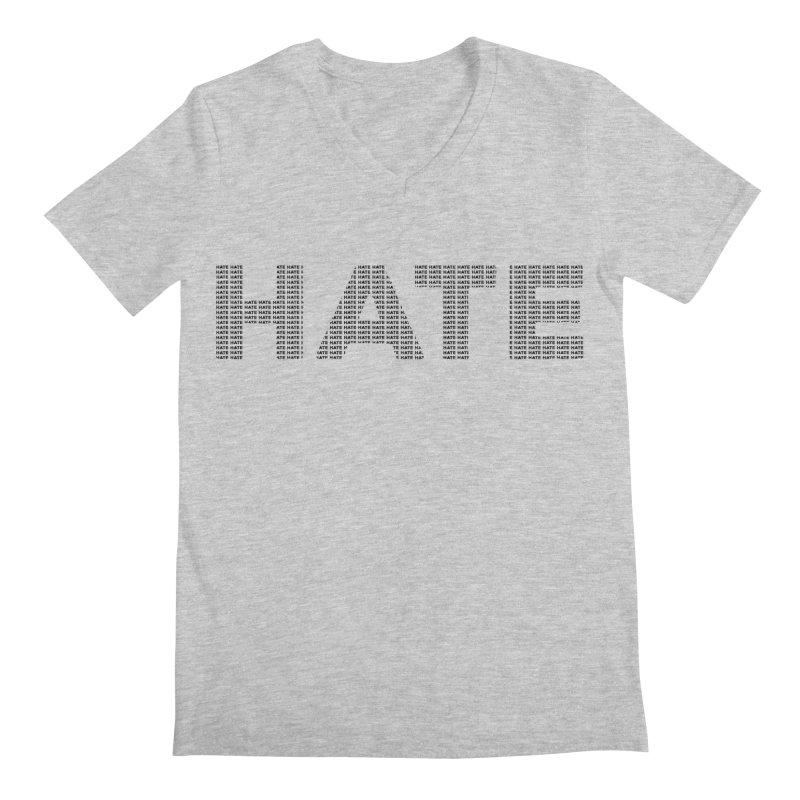 Hate v1 Men's Regular V-Neck by lostsigil's Artist Shop