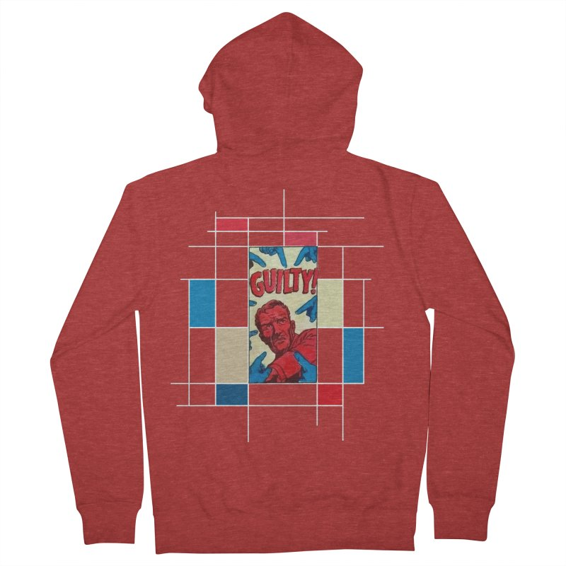 You are guilty! Dark Women's French Terry Zip-Up Hoody by lostsigil's Artist Shop