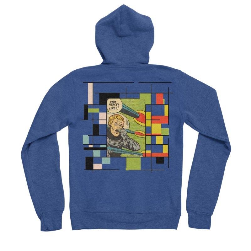 For Peace! Men's Sponge Fleece Zip-Up Hoody by lostsigil's Artist Shop