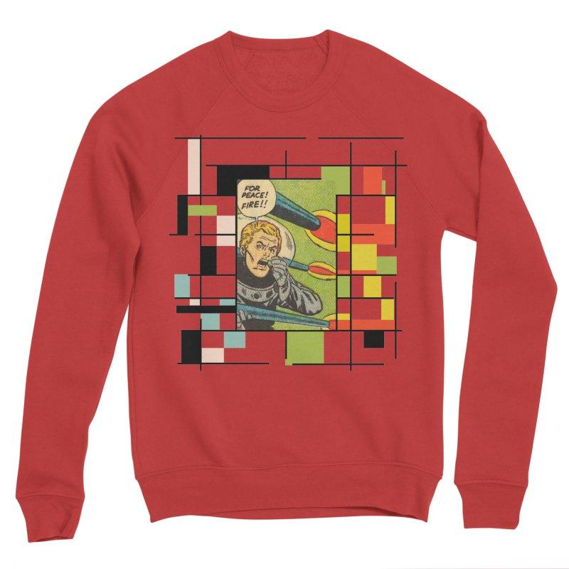 For Peace! Men's Sponge Fleece Sweatshirt by lostsigil's Artist Shop