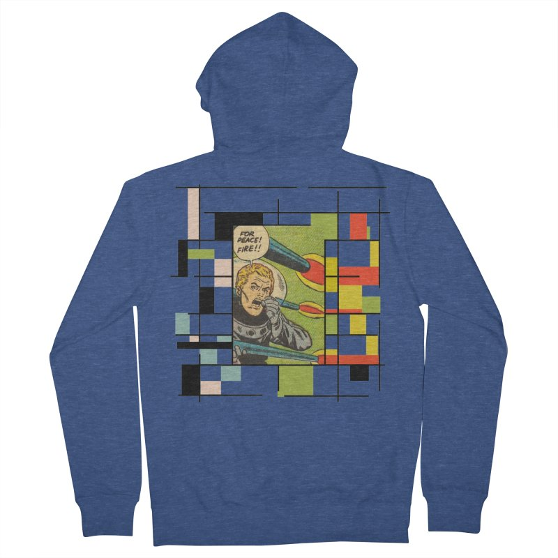 For Peace! Men's French Terry Zip-Up Hoody by lostsigil's Artist Shop