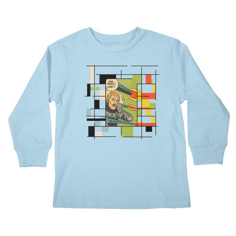 For Peace! Kids Longsleeve T-Shirt by lostsigil's Artist Shop