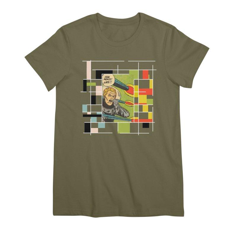 For Peace! Dark Women's Premium T-Shirt by lostsigil's Artist Shop