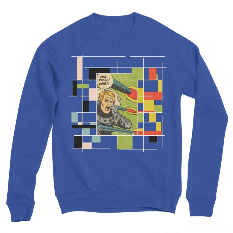For Peace! Dark Men's Sponge Fleece Sweatshirt by lostsigil's Artist Shop