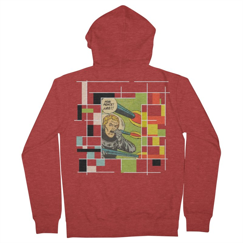 For Peace! Dark Men's French Terry Zip-Up Hoody by lostsigil's Artist Shop