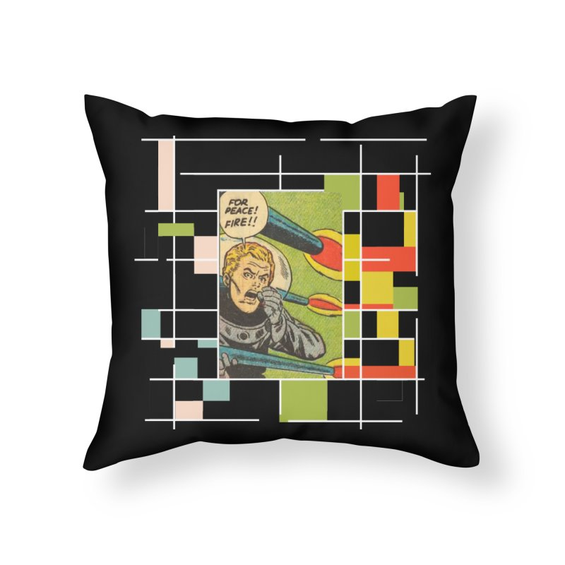 For Peace! Dark Home Throw Pillow by lostsigil's Artist Shop